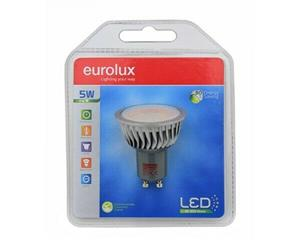 Lamep Led 6W Gu10 3000K Eurolux - 300Lms Lifetime 15 000 Hrs