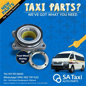 New Front Wheel Bearing Kit suitable for Toyota Quantum - SA Taxi Auto Parts quality taxi spares