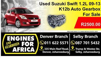 Used Suzuki Swift 1.2L K12b Dohc 09-13 Auto Gearbox For Sale