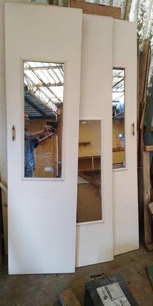 White doors with mirrors for sale