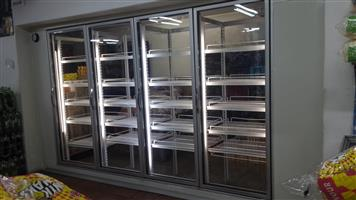 35 % saving on glass door cold rooms reconditioned fully installed or in kit form