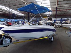 odyssey  1450 wet deck on trailer on trailer 60 hp mercury 4 stroke 127 hours