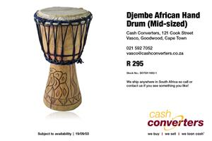Djembe African Hand Drum (Mid-sized)