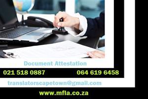 Document Attestation Cape Town
