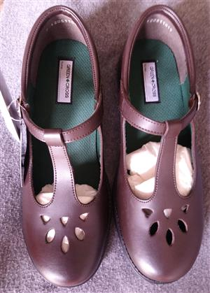 Green Cross Girls School Shoes