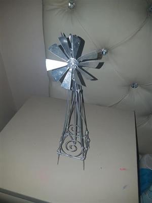 Silver decorative windmill for sale