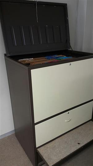 Steel map cabinet