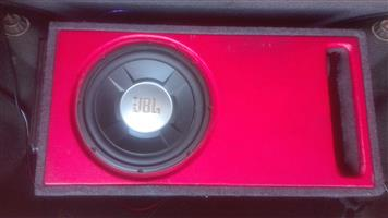 """Jbl 12"""" subwoofer for car with mounted amp on box"""