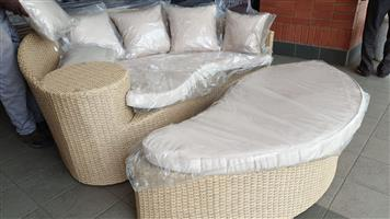 Cairns Poly Wicker patio set for sale WAS R 17995 NOW R 11900