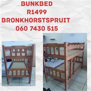 Bruin bunkbed te koop