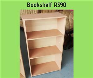3 Tier light wooden bookshelf