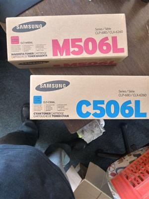 two Samsung C506L Printer Ink for sale