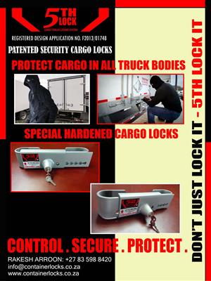 CONTAINER LOCKS AND TRUCK SECURITY LOCKS FOR SALE
