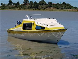 CABIN BOAT FOR SALE VERY  NEAT CONDITION