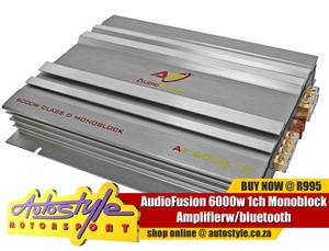 AudioFusion 6000w 1ch Monoblock Amplifier - 6000w peak power