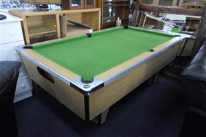 Pool Table, 4 Cues and Set of Balls