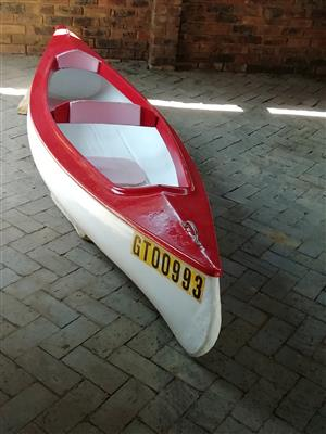 Fibre glass double seater canoe