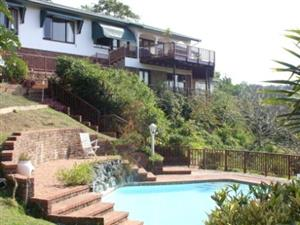 FURNISHED VILLA WITH RIVER, AND SEA VIEWS SUITABLE FOR ONE PERSON R5000 PER MONTH INCL ELEC & WATER AVAILABLE MAY