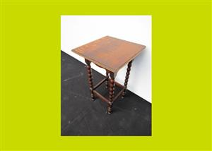 Small Vintage Oak Side Table - SKU 477