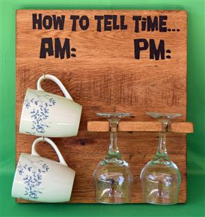 HOW to TELL TIME (Mug and Glass Holder)