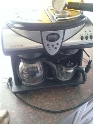 Platinum koffie perkoleerder en espresso maker