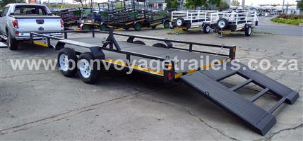 CHECKER PLATE CAR TRAILER WITH RAMP FOR SALE