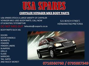 CHRYSLER VOYAGER MK3 BODY PARTS FOR SALE- CALL NOW
