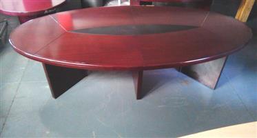 8 Seat boardroom oval Mahogany