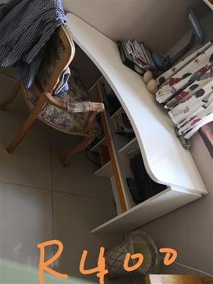 White desk with chair for sale