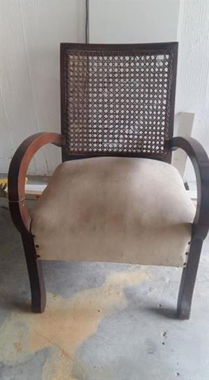 Antique Rattan back chair
