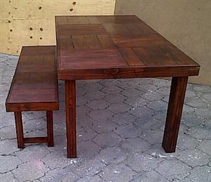 Patio table Farmhouse series 1850 Combo 2 Stained