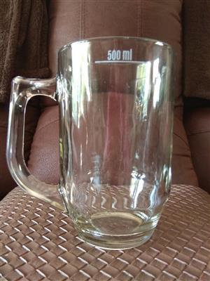 Glass Beer Mugs 500ml
