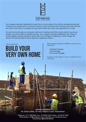 We build 2room and a garage fr only 600 a month debt free