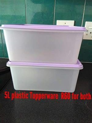 5 L Tupperware for sale
