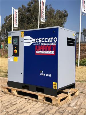 Ceccato 22 kw, 8 bar Lubricated Air Compressor.
