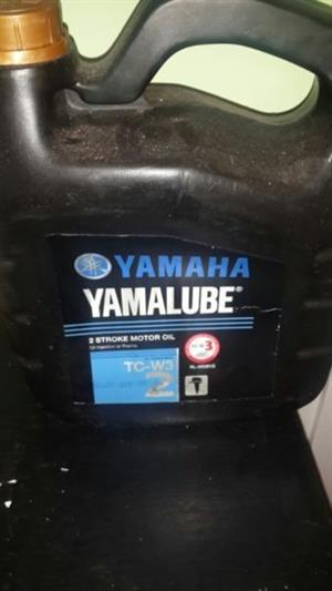 sealed 4 Litres of Yamaha yamalube 2 stroke oil FC Unopened and surplas to my needs