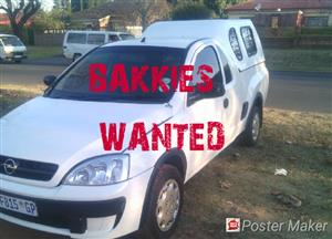 I am interested in buying all types of bakkies.