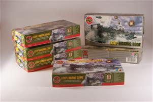 1/72 scale unmade plastic model kits of Airfix LCVP Landing Craft
