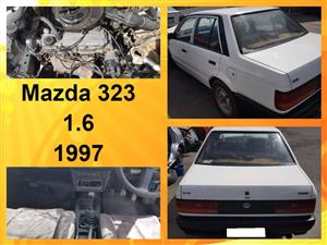 Mazda 323 1.6 1997 stripping for spares.