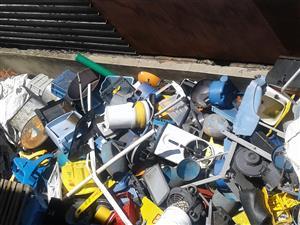 Factory plastic scrap