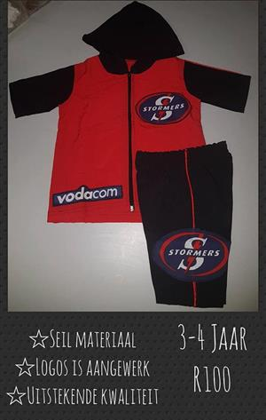 Red and black stormers outfit