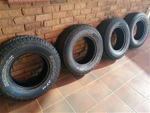 Hankook Dynapro ATM 265/70R16 for sale.