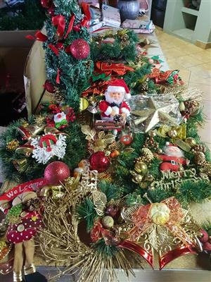Xmas tree and decor for sale