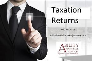 Taxation Returns Completed R250/ Taxation Refunds
