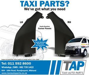 CORNER PANEL - NEW Replacement Spares suitable for Toyota Quantum  - Taxi Auto Parts - TAP