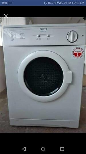 Defy 7kg tumble dryer for sale.