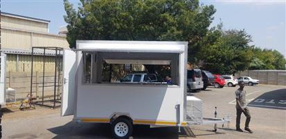 Mobile Food Warmer Trailer - Dispensing Station