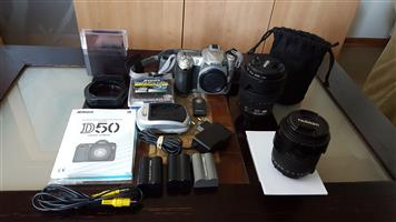 Nikon D50 camera and accessories