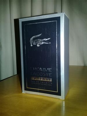 L HOMME LACOSTE INTENSE mens fragrance, used for sale  Deneysville