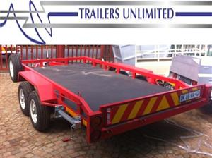 TRAILERS UNLIMITED. FLATBED, CAR, BOBCAT TRAILER.